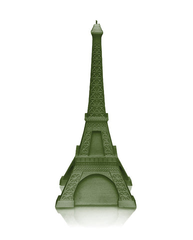 Eiffel Tower Candle Dark Green