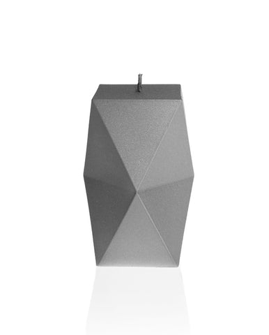 Geometric Candle Gray