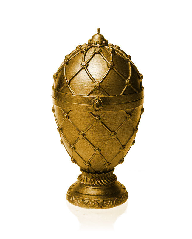 Large Faberge Egg Candle Gold