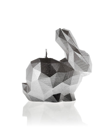 Bunny Poly Candle-Silver
