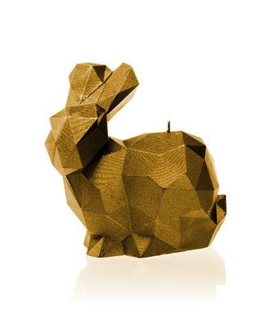 Rabbit Poly Candle Gold