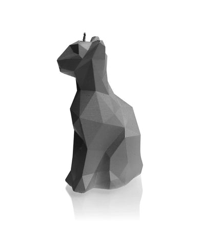 Cat Poly Candle Gray