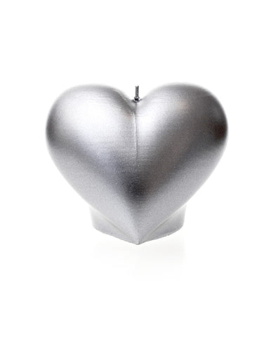 Heart Candle Silver