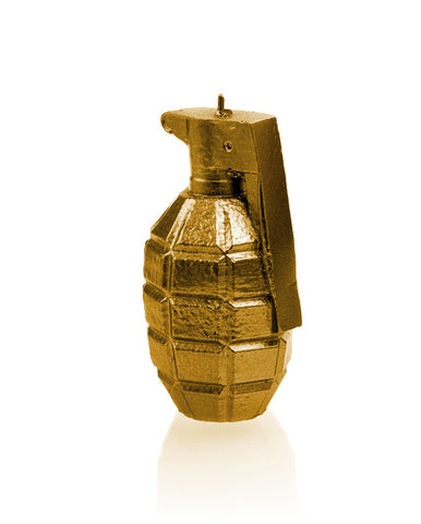 Grenade Candle Gold