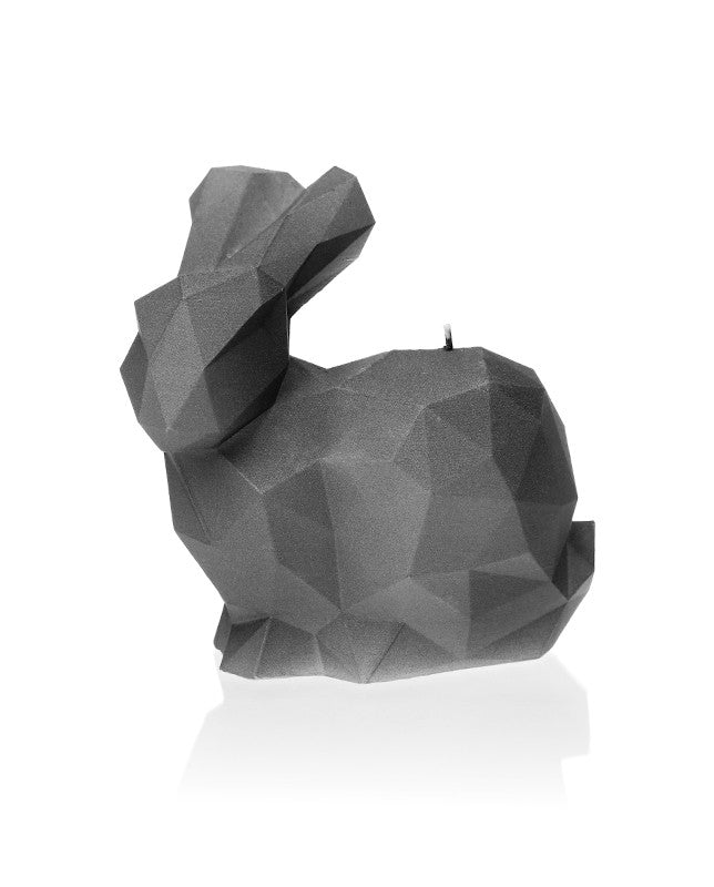 Rabbit Poly Candle Gray