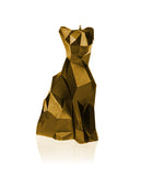 Cat Poly Candle Gold