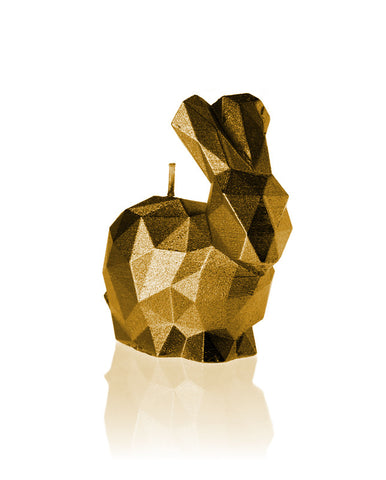 Bunny Poly Candle-Gold