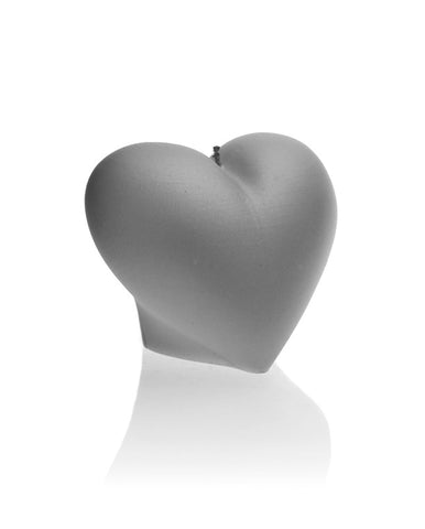 Heart Candle Gray
