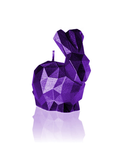Bunny Poly Candle-Violet Metallic