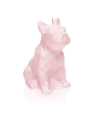 Dog Poly Candle Powder Pink