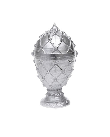 Faberge Egg Candle silver