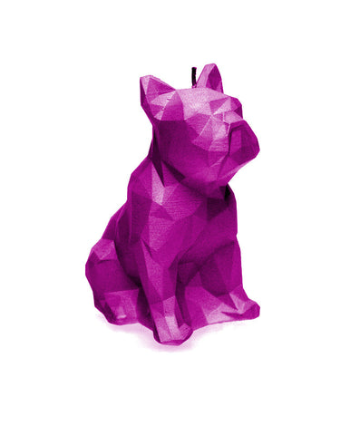 Dog Poly Candle Pink Metallic