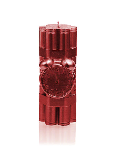 Dynamite Candle Red Metallic