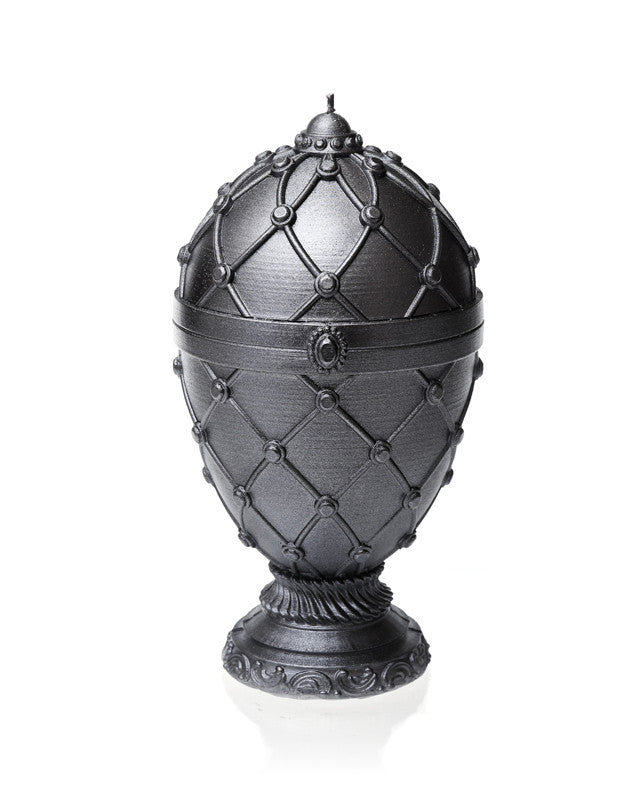 Large Faberge Egg Candle Steel