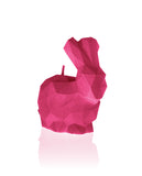 Bunny Poly Candle-Dark Pink