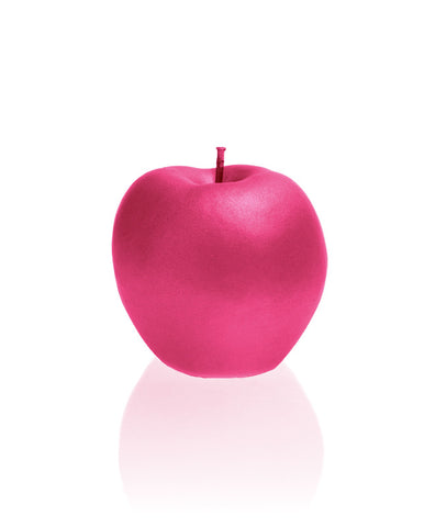 Apple Candle Dark Pink