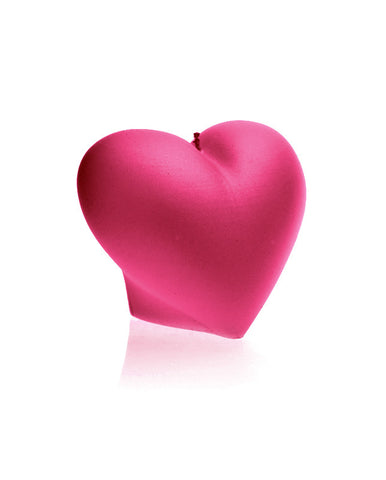 Heart Candle-Dark Pink