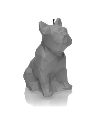 Dog Poly Candle Gray Matt