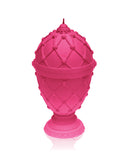 Large Faberge Egg Candle Dark Pink