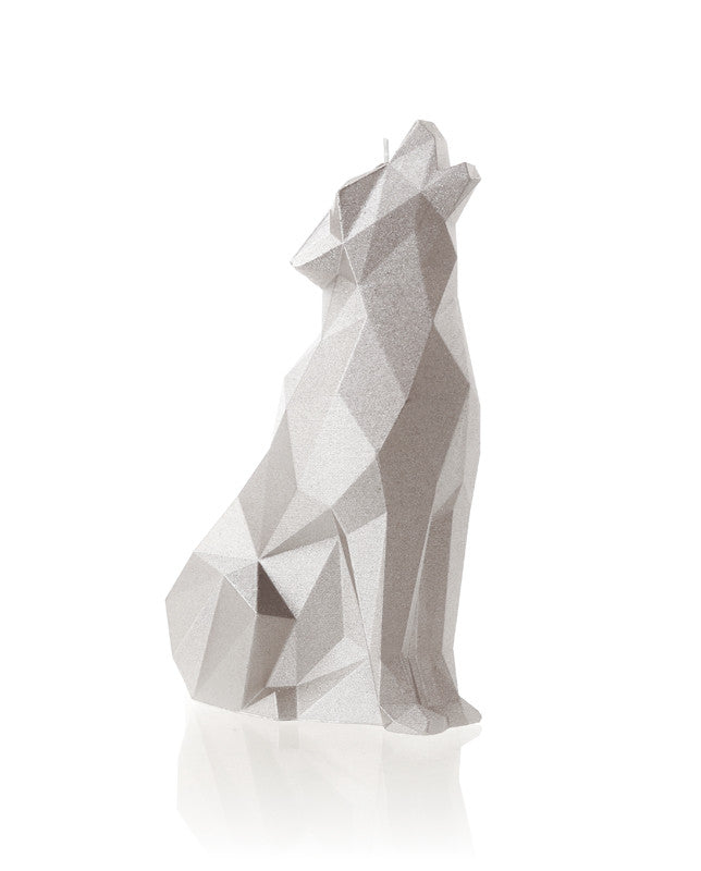 Wolf Candle Silver