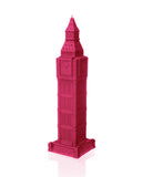 Big Ben Candle Dark Pink