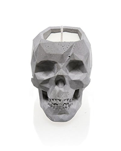 Concrete Scented Candle Skull- Concrete- Set of 2- Wholesale Exclusive