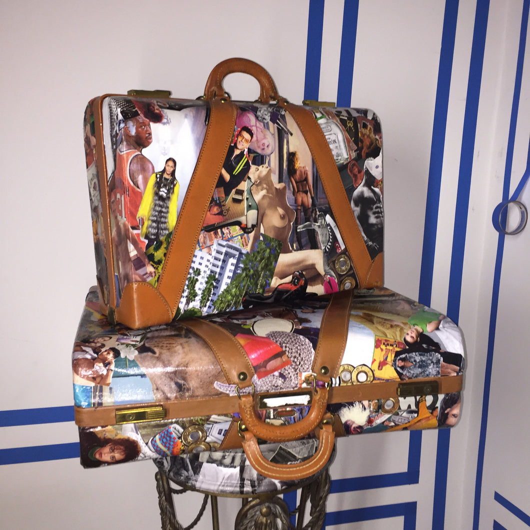 Camo Collage 2 piece Luggage set by the bms.