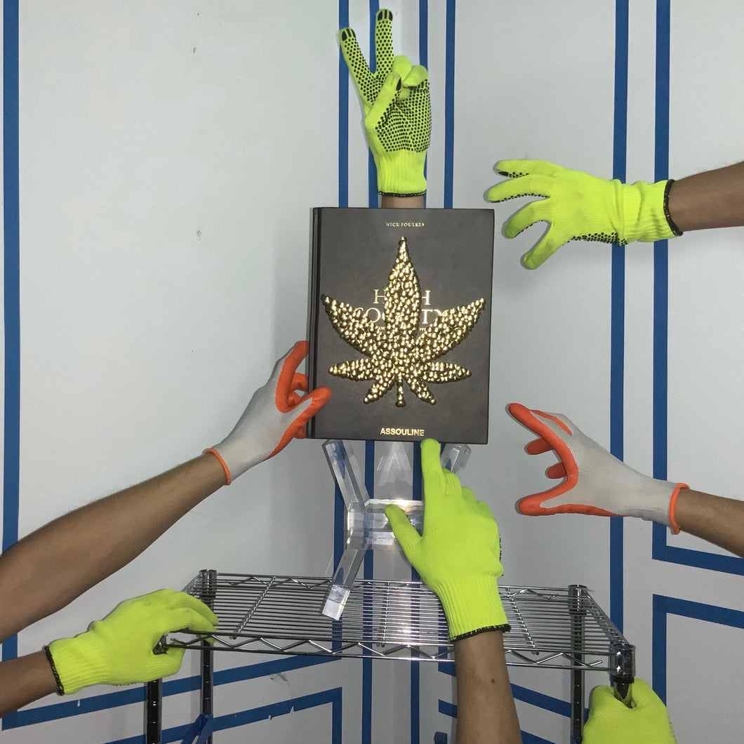 High Society - Gold Gilded Marijuana Leaf - coffee table book, the bms.