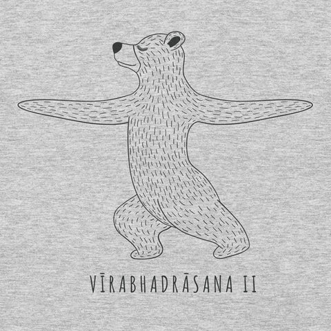 Yoga Bear Warrior II YogaGeek Design