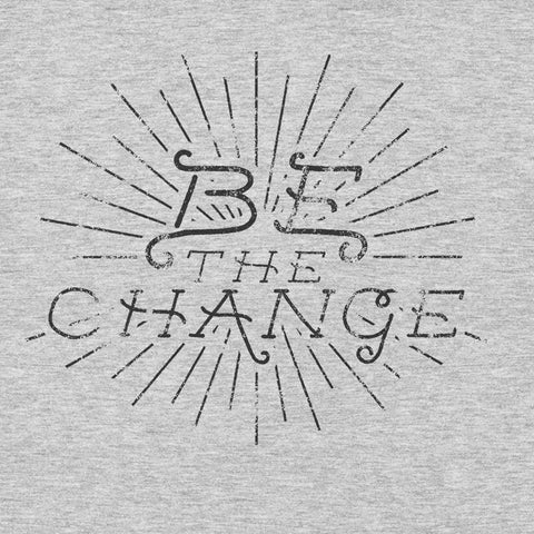 Be the Change Gandhi Quote YogaGeek Design