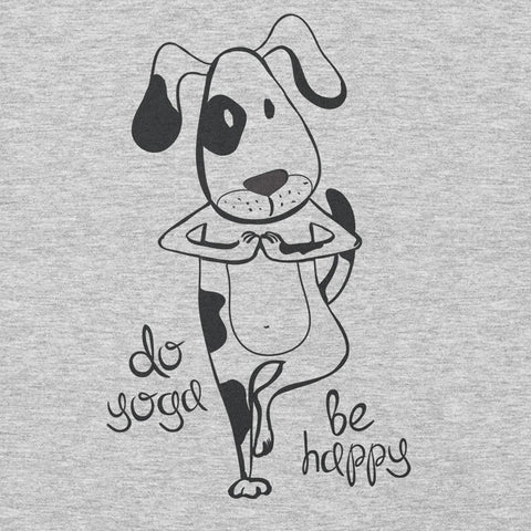 Do Yoga Be Happy Dog in Tree Pose YogaGeek Design