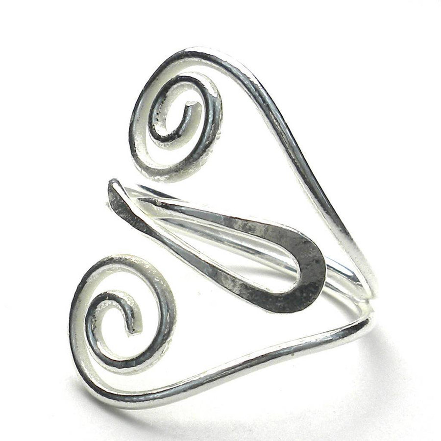 Silver Swirl Heart Ring - Artisana (Fair Trade)
