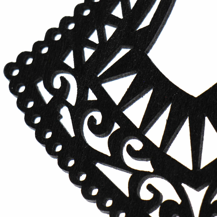 Bernadine - Intricate Wood Cutout Earrings - Starfish Project