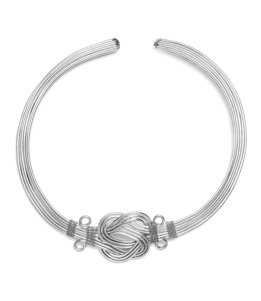 Buddha Knot Necklace - Silver - Matr Boomie (Fair Trade)