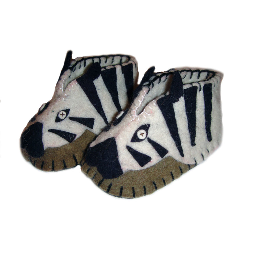 Zebra Zooties Baby Booties - Silk Road Bazaar (Fair Trade)