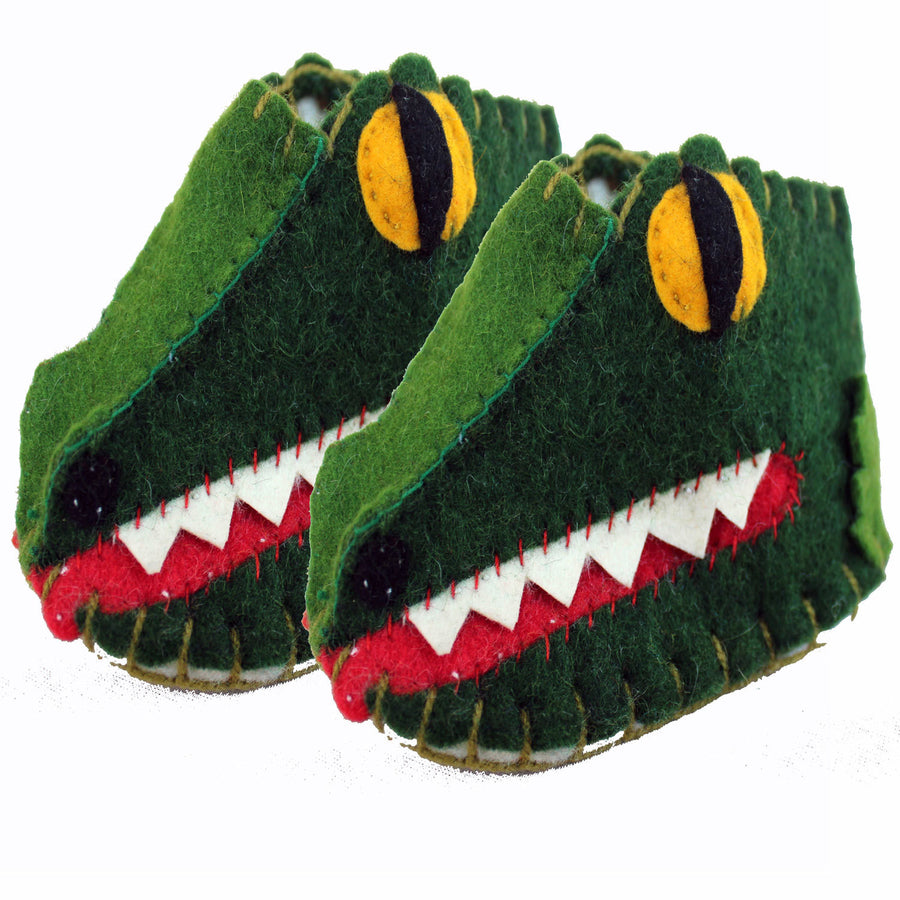 Alligator Zooties Baby Booties - Silk Road Bazaar (Fair Trade)