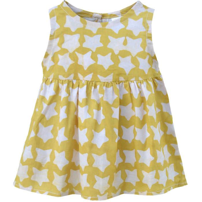 Baby Sundress Gold Stars - Global Mamas (Fair Trade)