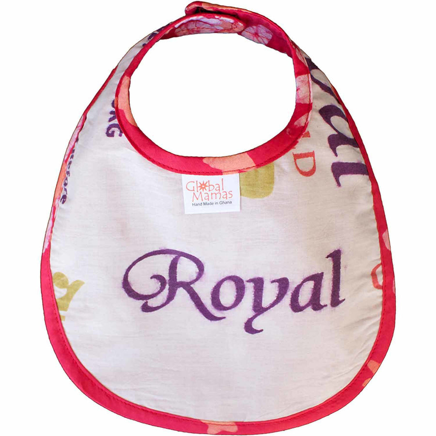 Batiked Baby Bib Papaya Star Design - Global Mamas (Fair Trade)