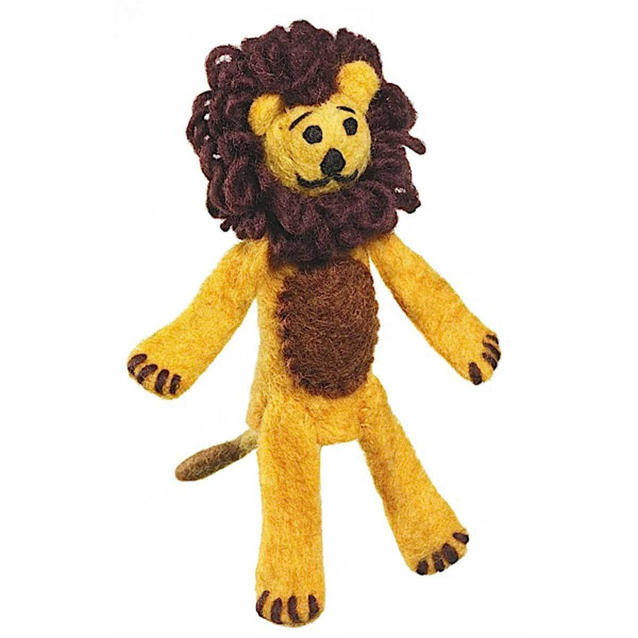 Woolie Finger Puppet - Lion - Wild Woolies (Fair Trade)