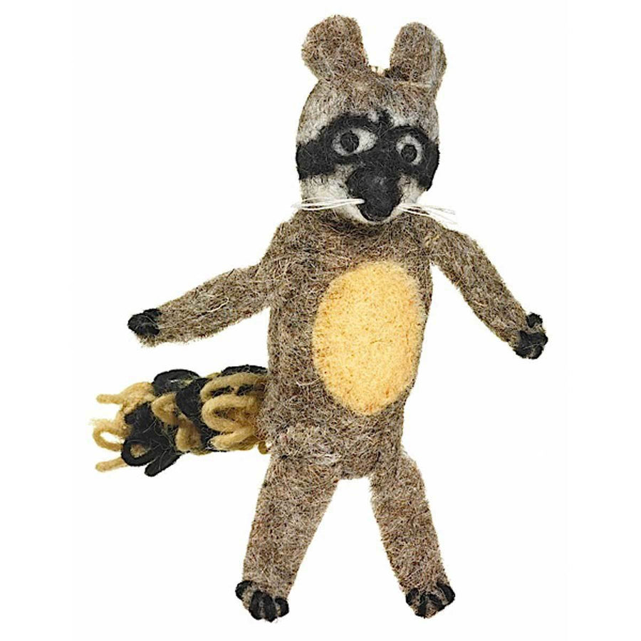 Woolie Finger Puppet - Raccoon - Wild Woolies (Fair Trade)