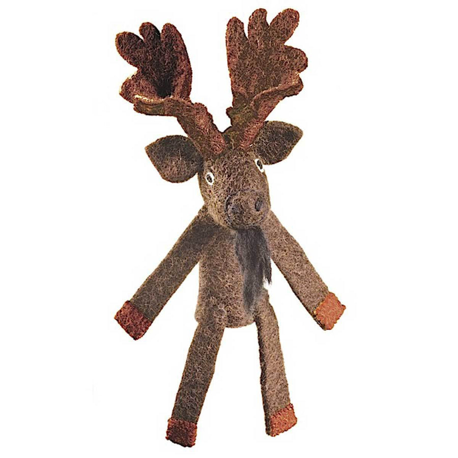 Woolie Finger Puppet - Moose - Wild Woolies (Fair Trade)