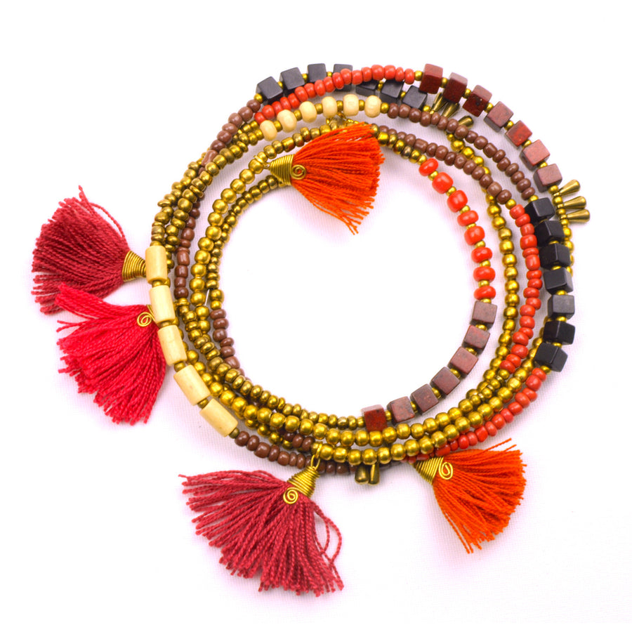 Kerala 3-in-1 Necklace Desert Sun - Global Groove (Fair Trade)
