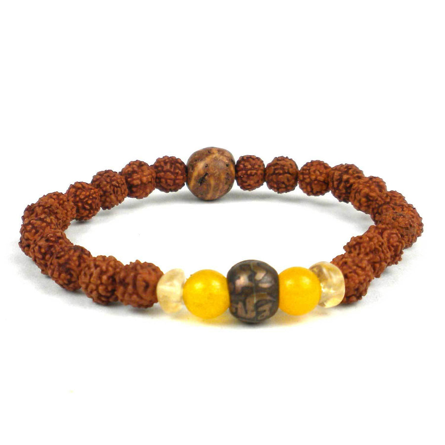 Padme Hum Wrist Mala Bracelet - Global Groove (Fair Trade)