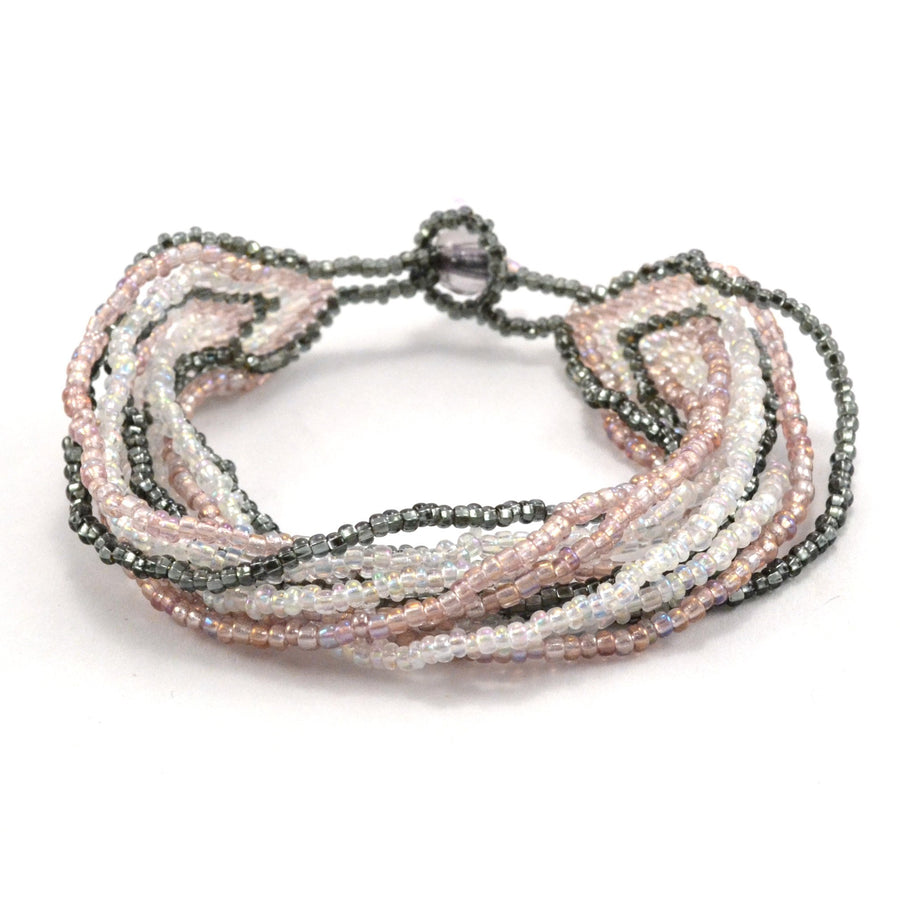 12 Strand Bracelet - Pinks - Lucias Imports (Fair Trade)