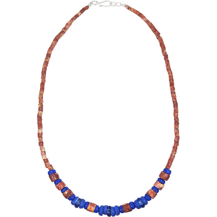 Down to Earth Necklace Blue - Global Mamas (Fair Trade)