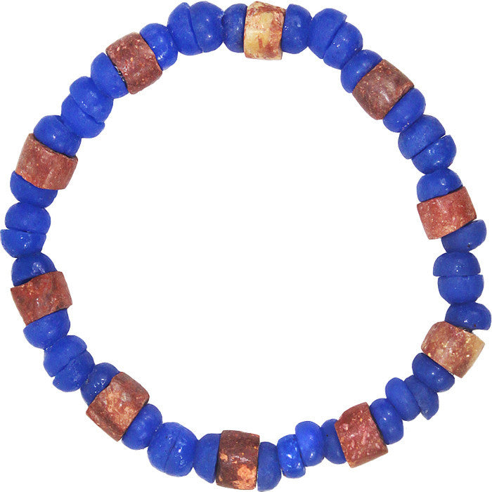Down to Earth Bracelet Blue - Global Mamas (Fair Trade)