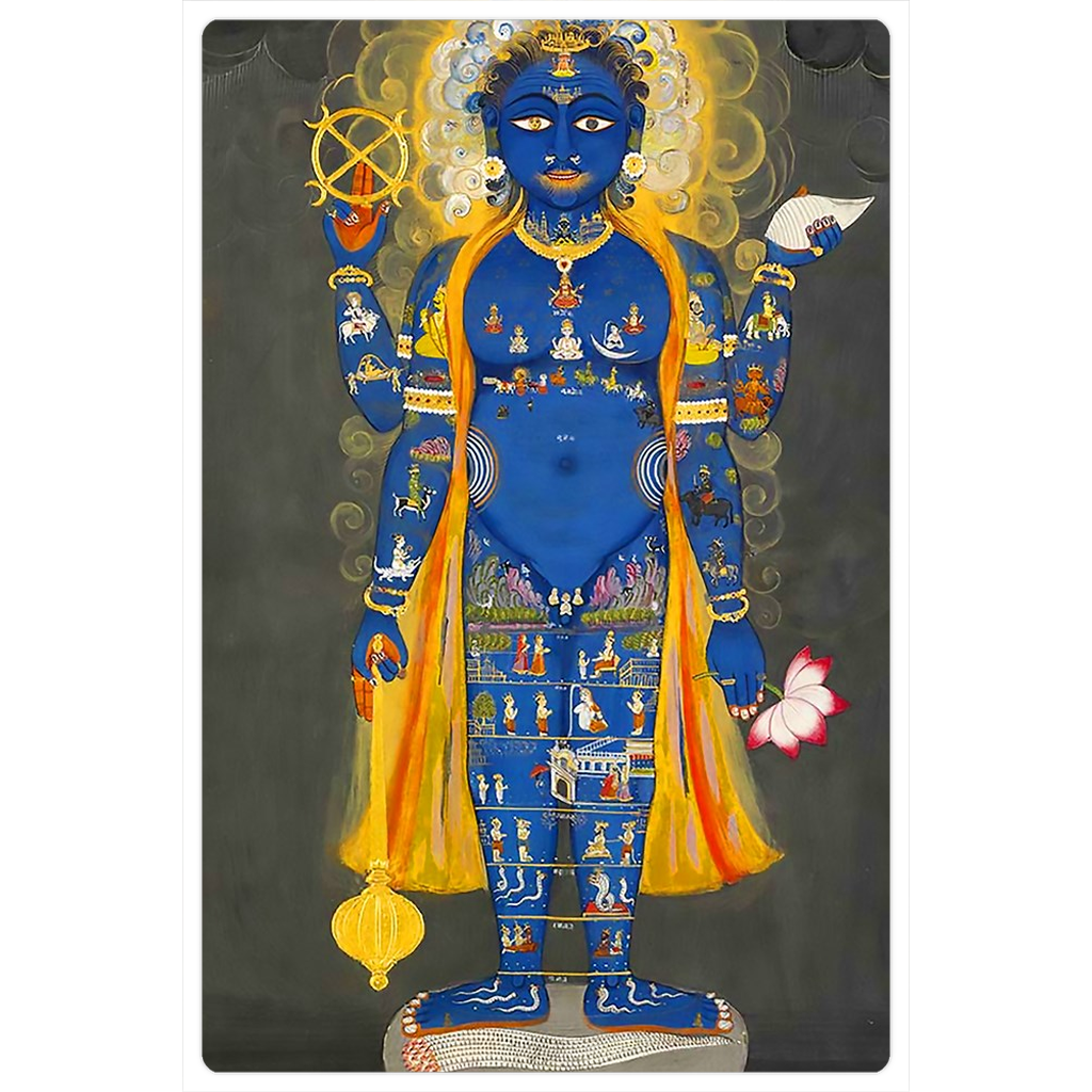 "Cosmic Purusha 4x6"" Indian Art Magnet"