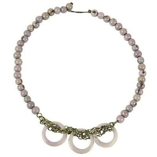 Circle Chain Choker in Lavender Handmade and Fair Trade