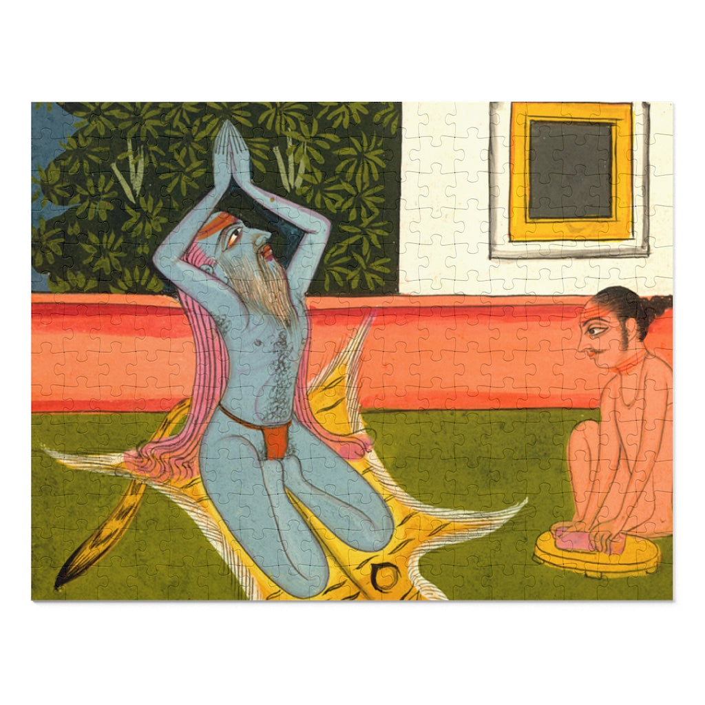 Hatha Yogi Performing Seated Surya Namaskar 252 Piece Puzzle