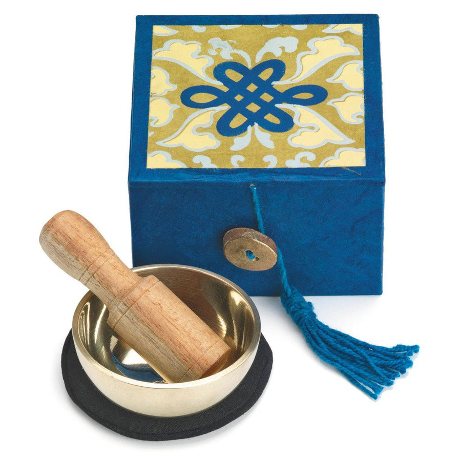 "Mini Meditation Bowl Box: 2"" Serenity - DZI (Fair Trade)"